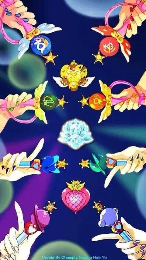 Sailor Moon group Transformation Pens