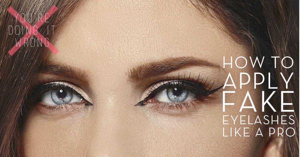 How to apply fake eyelashes like a pro