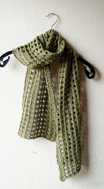 Summer Scarf Knitting Pattern, lace scarf, easy pattern, aran yarn ...