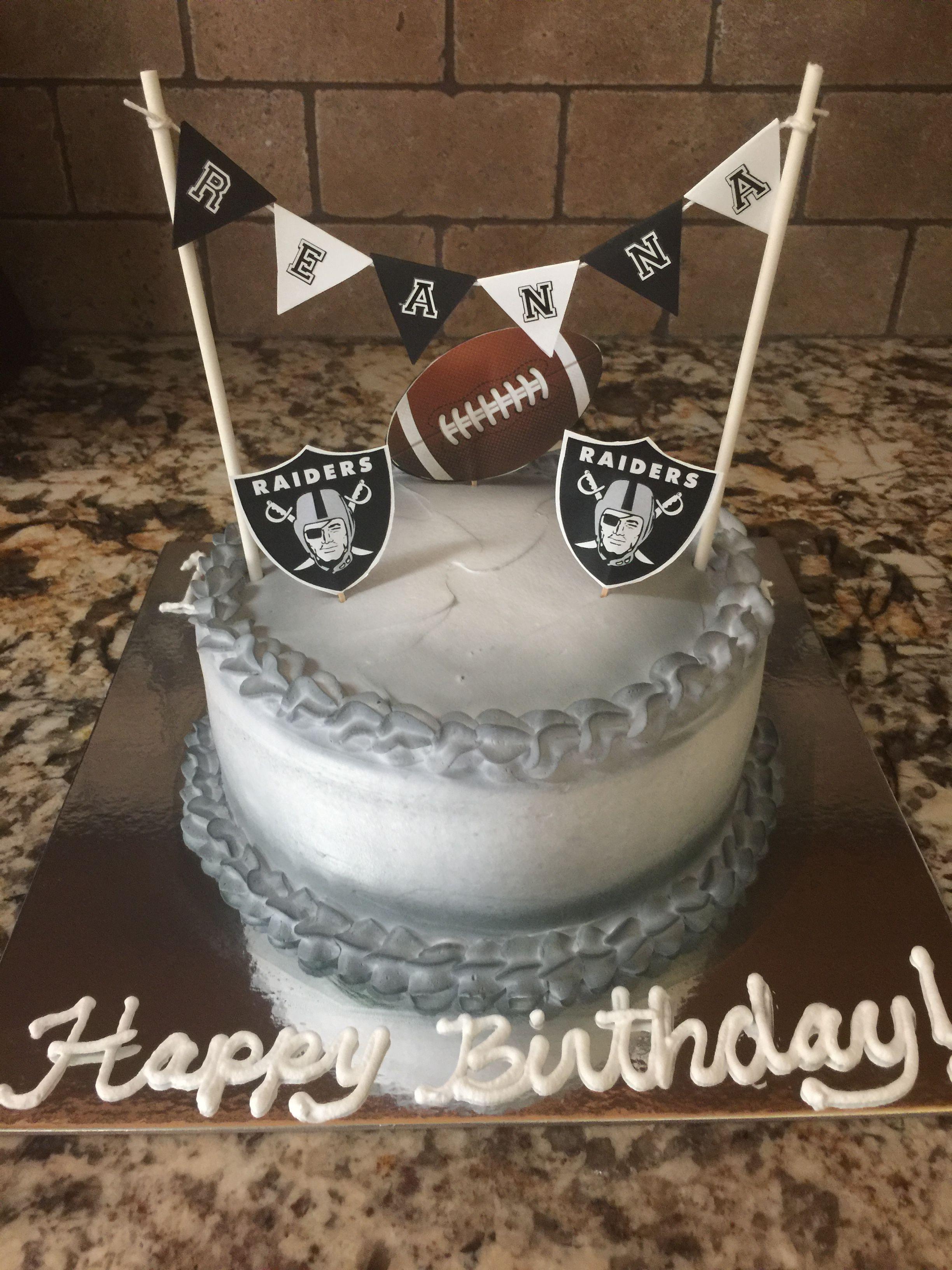 Oakland Raiders Birthday Cake Sports Them Birthday Party