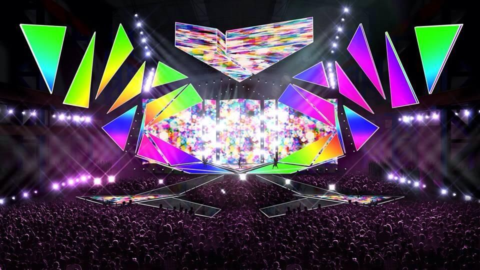 The design of the stage for the Junior Eurovision Song ...
