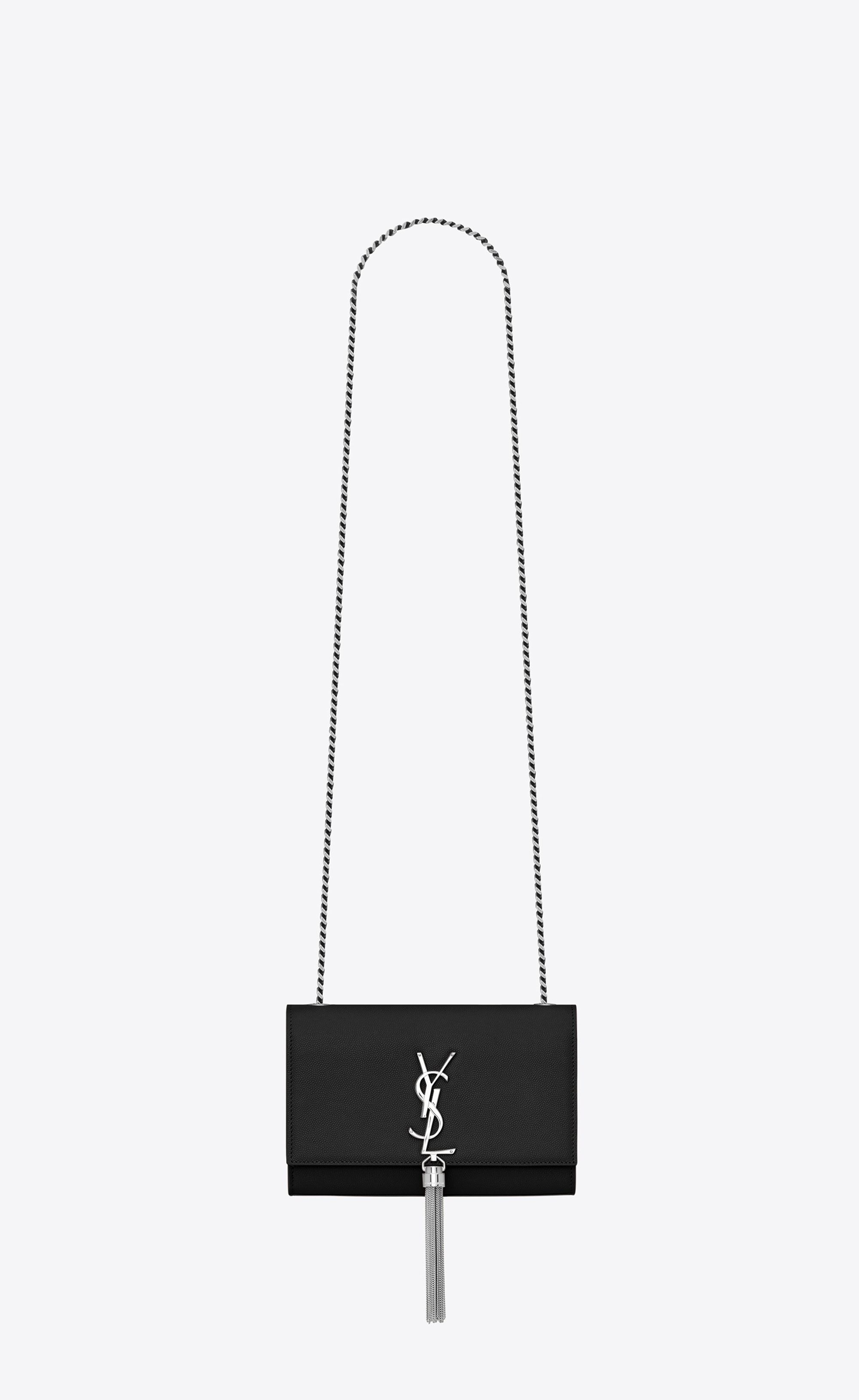1b54a00069  Saint Laurent Kate Small With Tassel In Grain De Poudre Embossed Leather