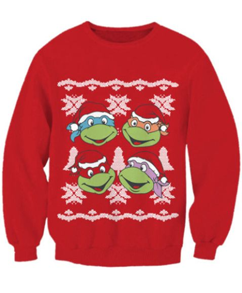 ninja turtles christmas sweater