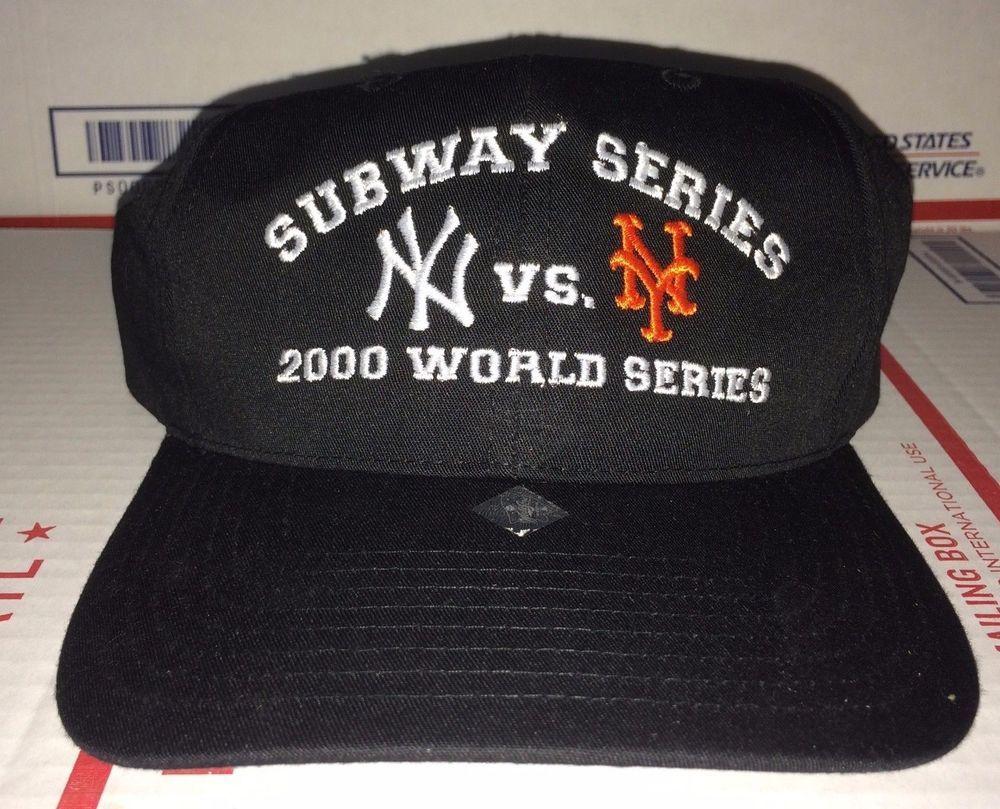 New York Yankees Vs Mets 2000 Subway World Series Baseball Cap Mlb Vtg Knicks Twinsenterprise Baseballcap New York Yankees Mets Yankees