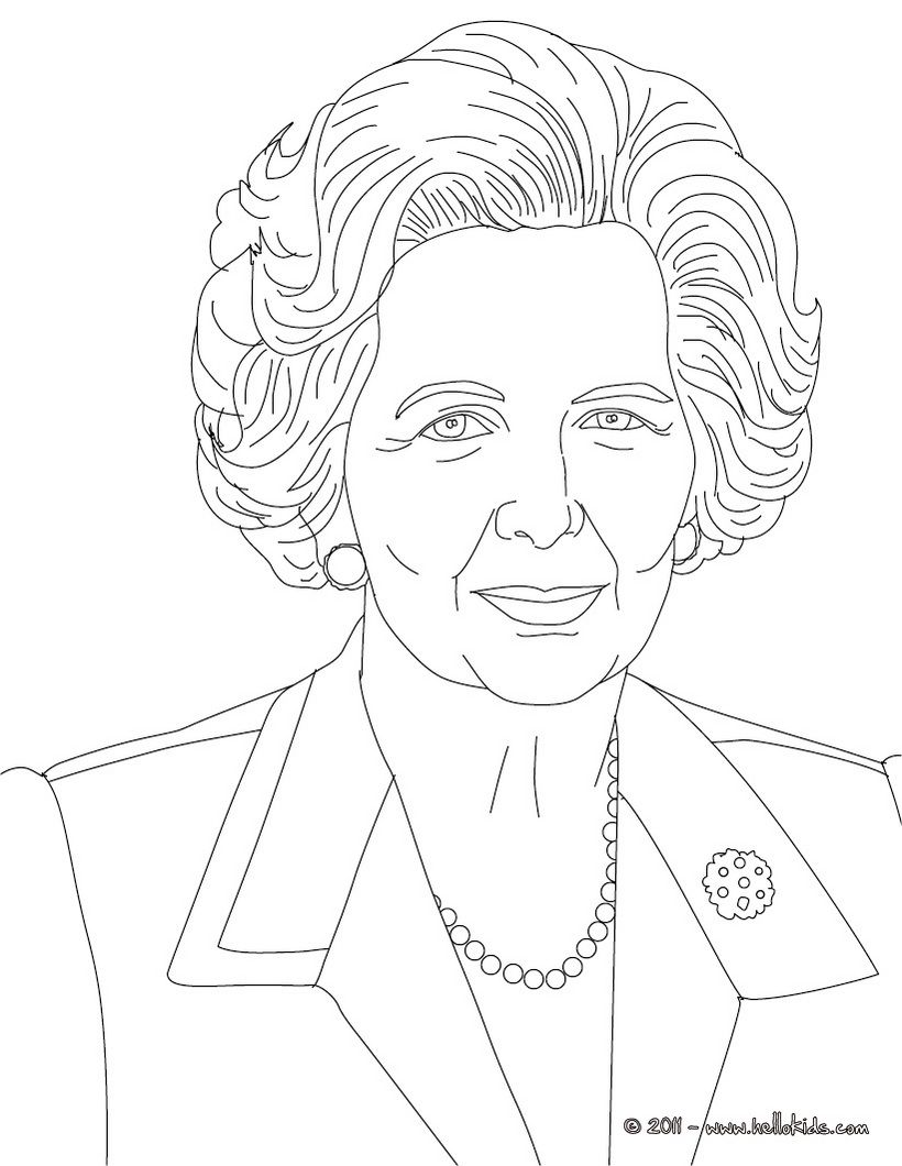 Prime Ministers Of The United Kingdom Colouring Pages Margaret Thatcher Coloring Books People Coloring Pages History Drawings