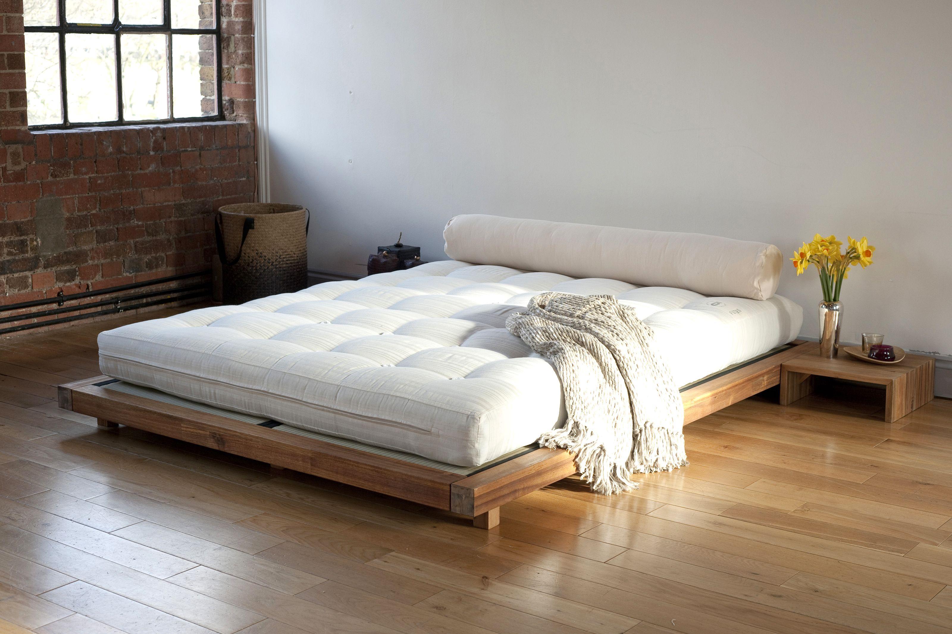 Platform Kingsize Bed Camas, Dormitorio japonés, Modelo