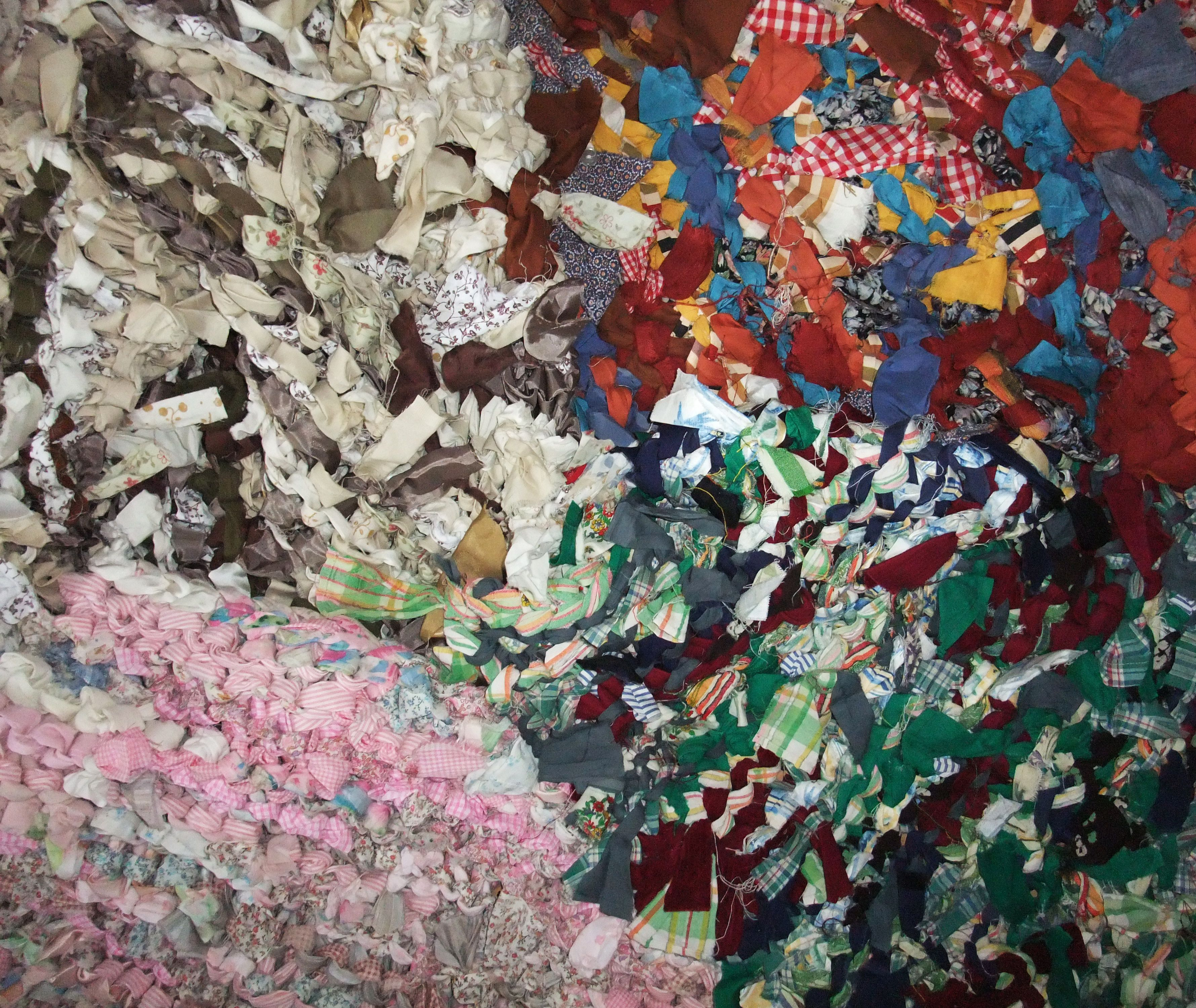 Dog Tears Up Rug: Rag Rugs (made By Tearing Up Strips Of Old Fabric, Tying