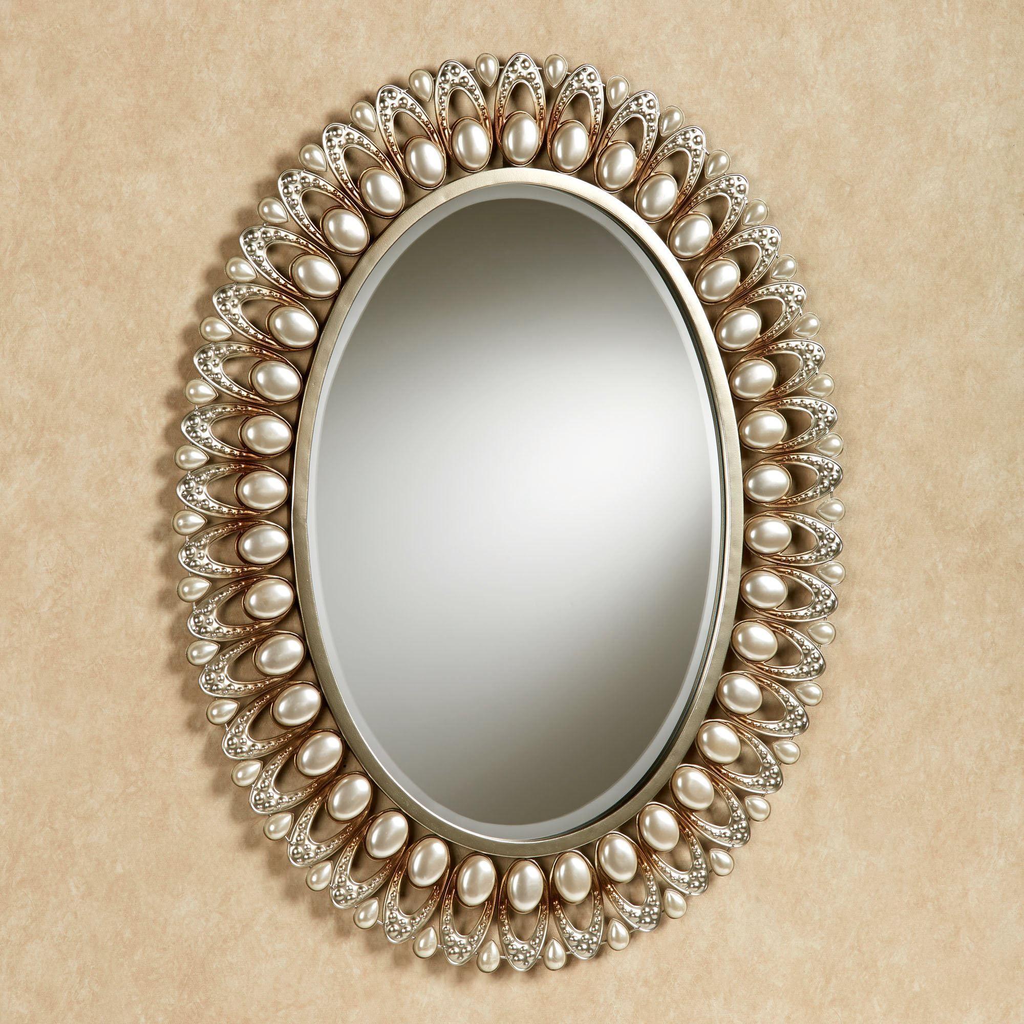 Julietta Pearl Oval Wall Mirror   Aynalar   Pinterest