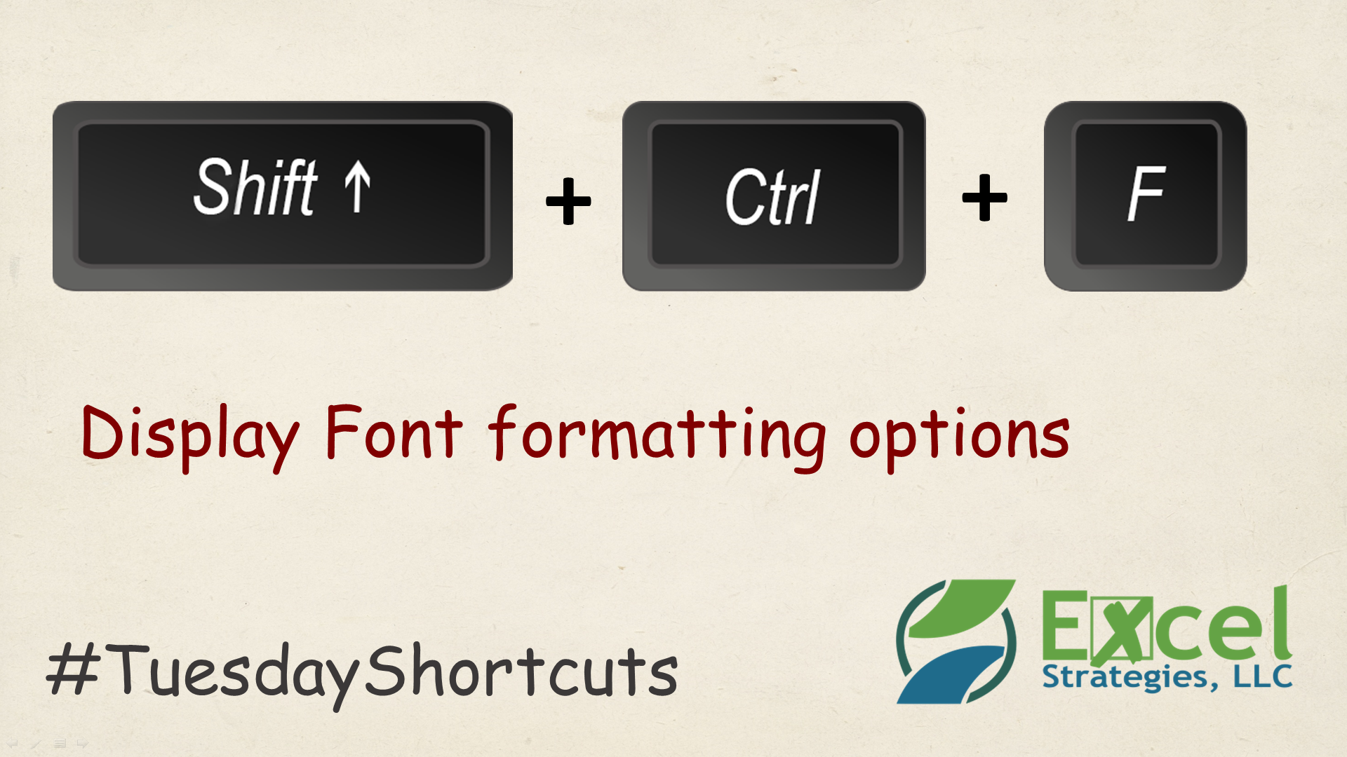 Shift Ctrl F Display M Cel Font Formatting