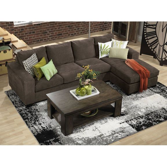 Admirable Danielle 2 Piece Sectional Java Leons In 2019 Andrewgaddart Wooden Chair Designs For Living Room Andrewgaddartcom
