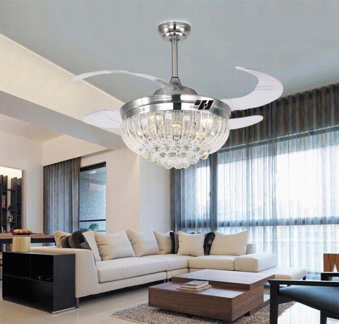 US $385.9 |Stealth Crystal fan chandelier fan light LED 42 inch fan chandelier light with remote control fan light|light emitting diode package|light box light therapylight sensitive - AliExpress