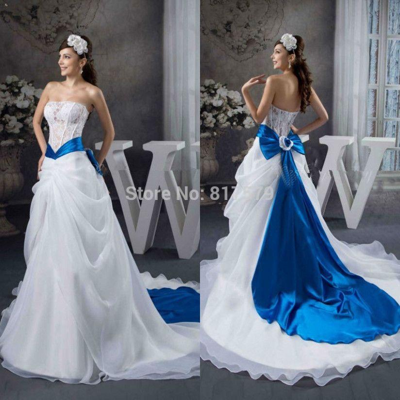 Wedding Dresses Blue And White Blue Wedding Dresses Blue Wedding Dress Royal White Wedding Dresses
