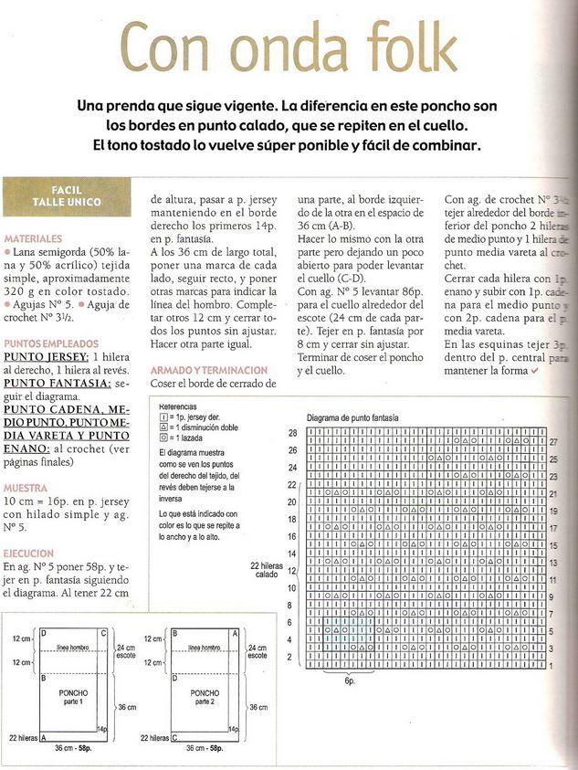 Pin de Christian Mariza Alberti Chappe en Tejidos | Crochet poncho ...
