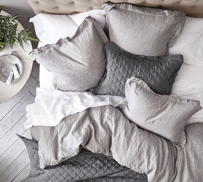 This Is The Plan Linen Duvet Covers Grey Bedding Bedding Master Bedroom