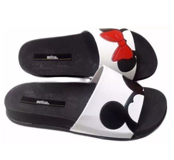 6963ae8be0 Lançamento Melissa Beach Slide Mickey Minnie Laço Chinelo Melissa