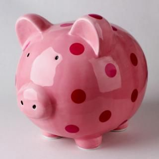 pink with dots pig bank porcelain saving box ceramic piggy bank for adult