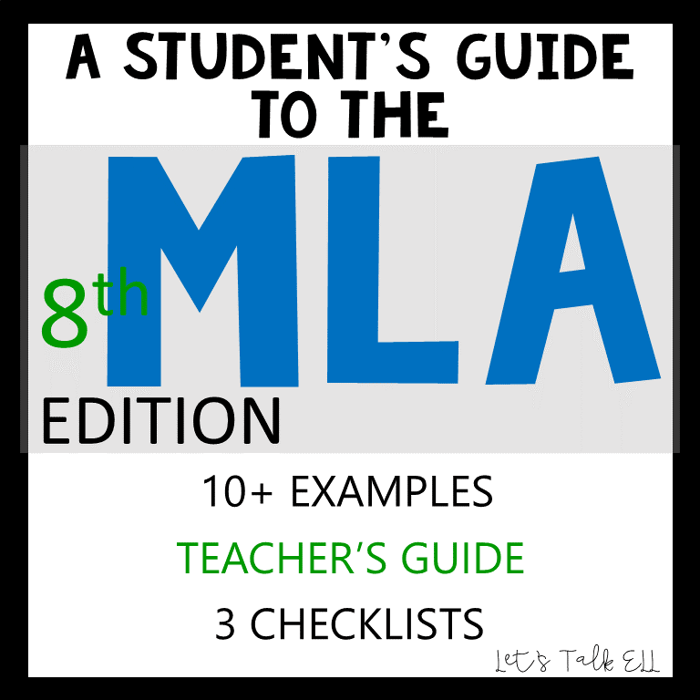 secondary ela mla formatting guide citations works cited page