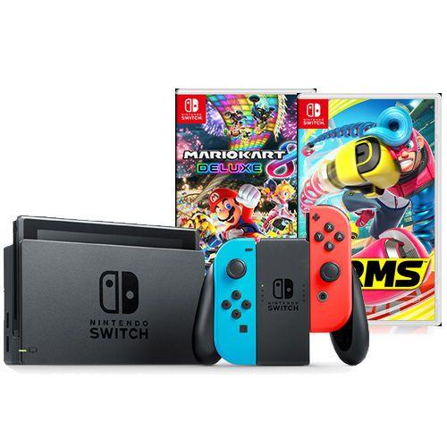 Nintendo Switch With Neon Joy Con Bundle Includes Mario Kart 8 Deluxe Nintendo Mario Kart 8 Nintendo Switch
