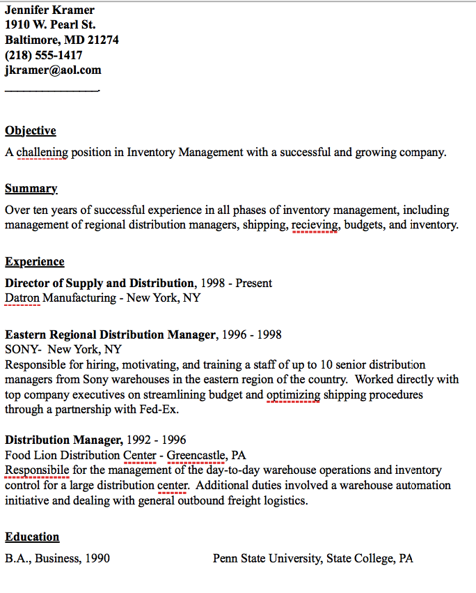 Example Of Distribution Manager Resume  HttpResumesdesignCom