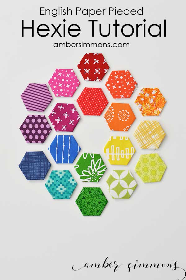 English Paper Pieced Hexie Tutorial - Amber Simmons