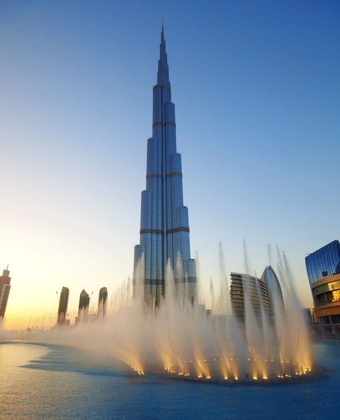 Dubai welcomes you with the great Burj Khalifa and world's biggest fountains.