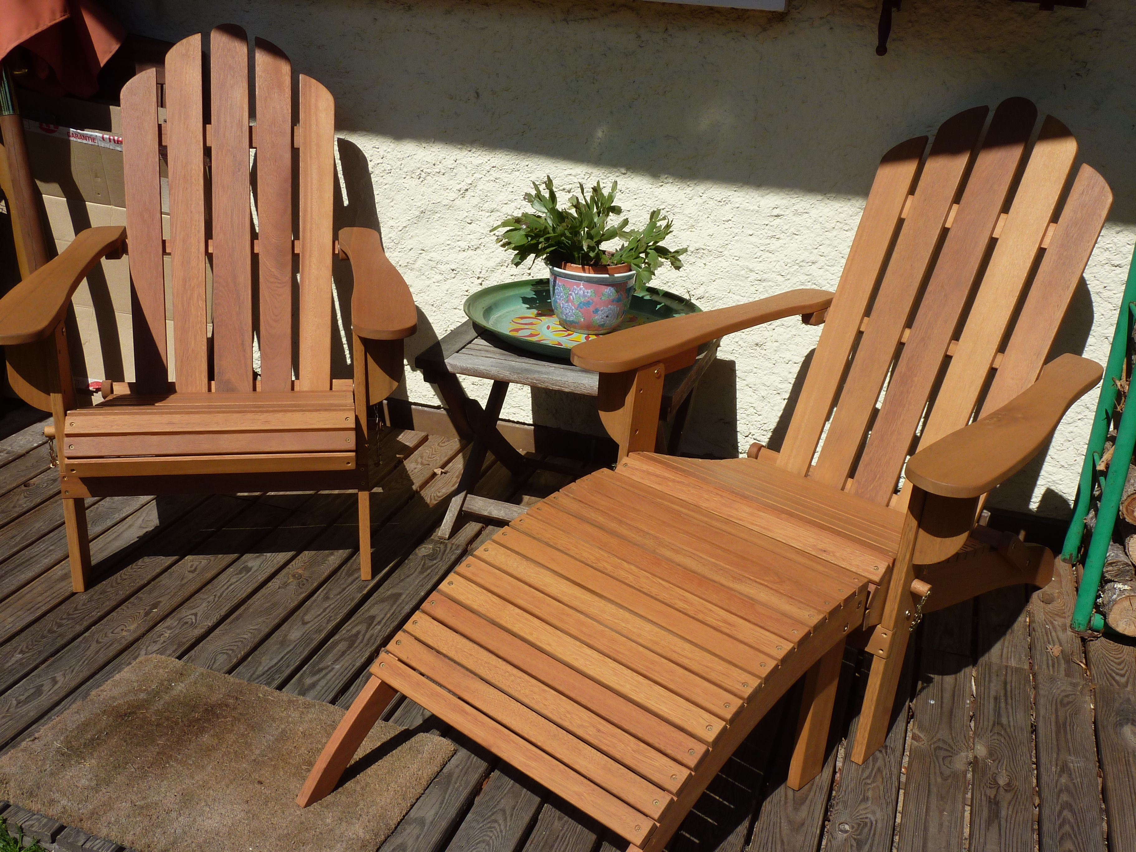 Adirondack fauteuil de jardin en bois eucalyptus FSC style rétro