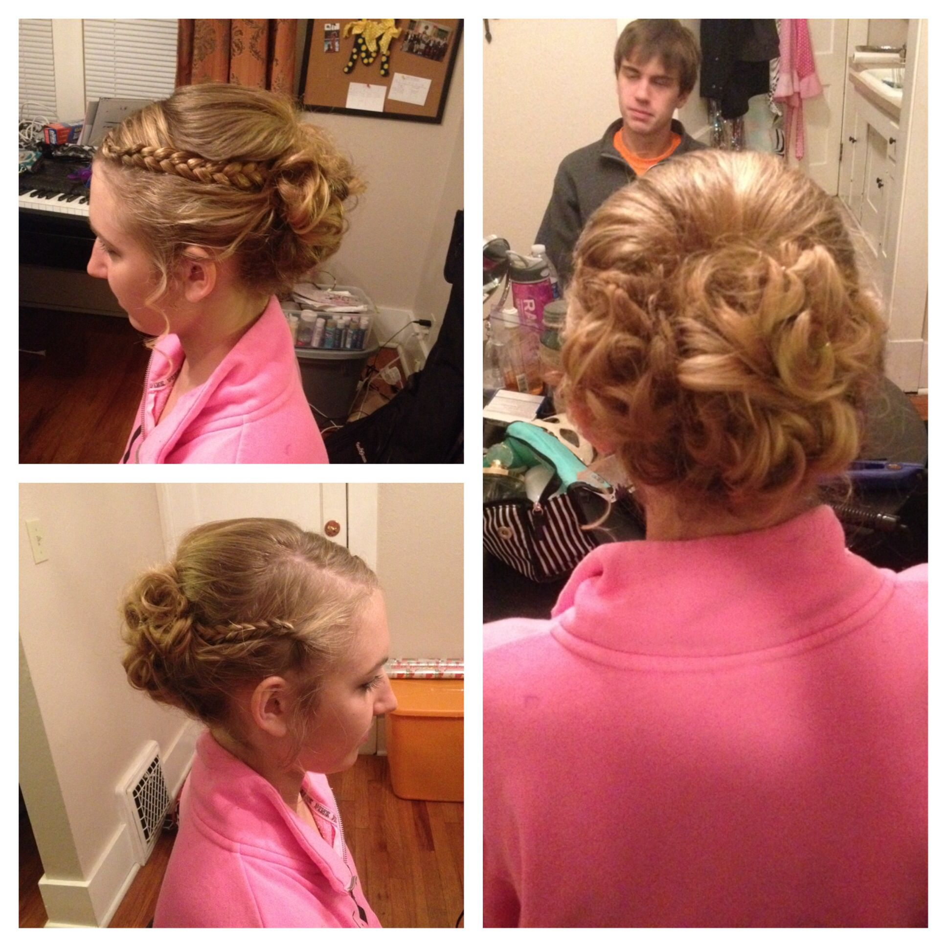 formal princess cinderella curly updo hair prom | beauty