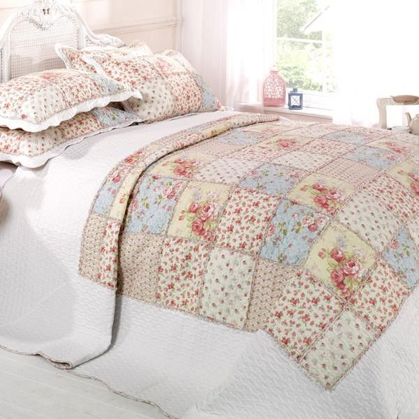 Emma Barclay Larochelle Patchwork 100% Cotton Quilted Bedspread ... : single quilted bedspreads - Adamdwight.com