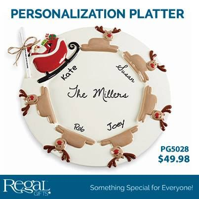 ROUND PERSONALIZATION PLATTER Ceramic plate with 3 dimensional hand-painted details. Comes with permanent marker to personalize with family name or cookie ...  sc 1 st  Pinterest & ROUND PERSONALIZATION PLATTER Ceramic plate with 3 dimensional hand ...