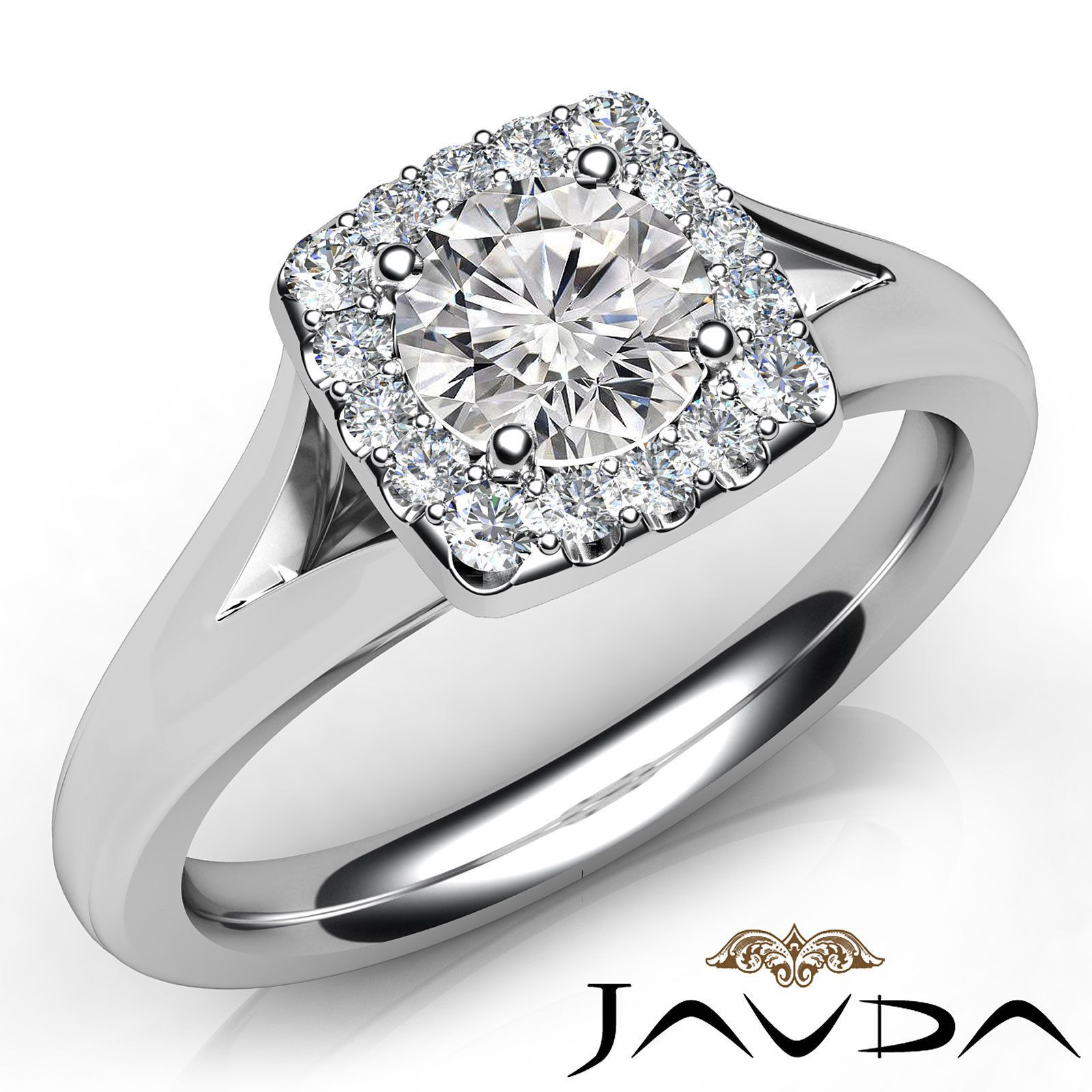 Lustful round diamond halo pave engagement ring gia e vvs k white