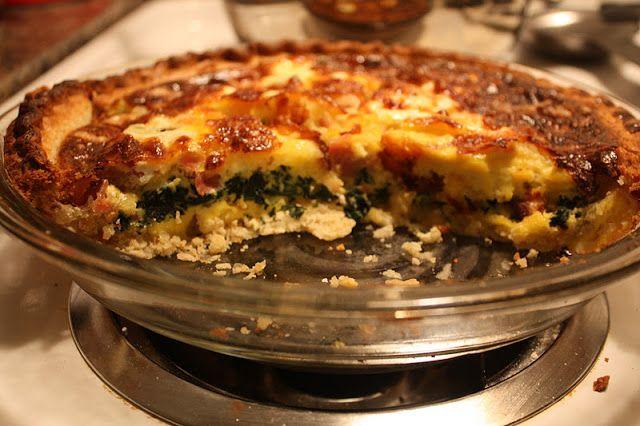Ham Swiss and spinach quiche