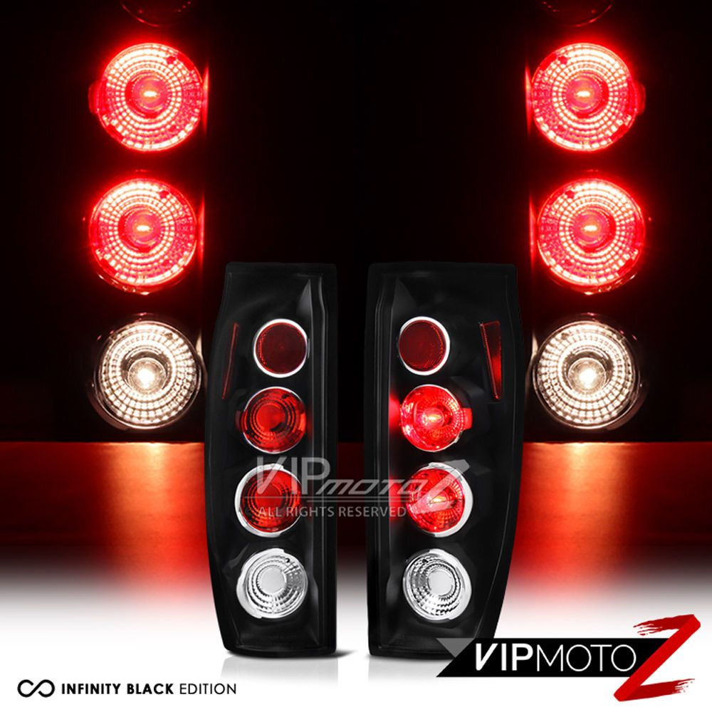 hight resolution of 02 03 04 05 06 chevy avalanche black diy tail lights lamps rear brake