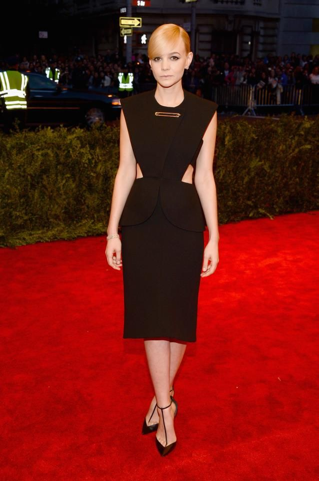 "MET BALL 2013    Carey Mulligan wearing Balenciaga for the ""PUNK: Chaos to Couture"" exhibition at the Metropolitan Museum of Art on May 6, 2013 in New York City"