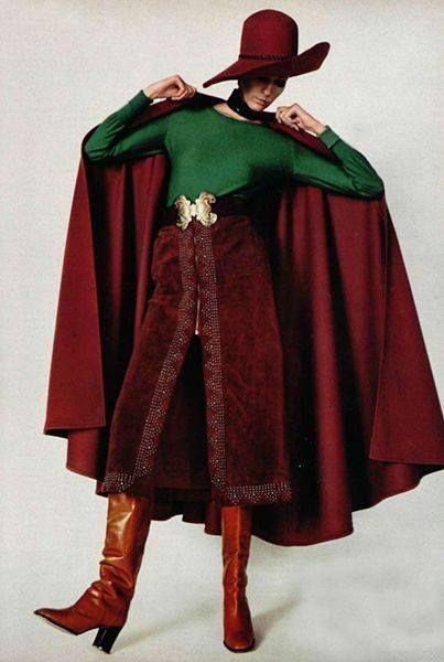 Circa 1970 Ysl Haute Couture Jean Lou Zieff Fr Vogue