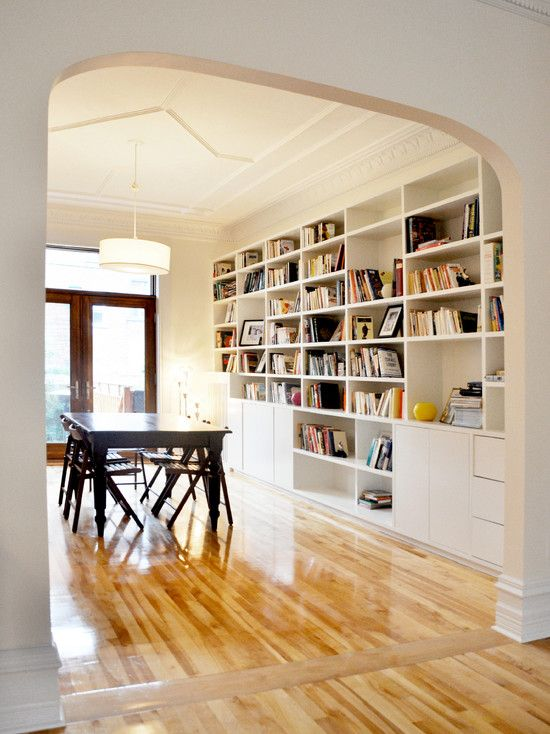 Dining Room Library Ideas: Love The Combination Dining Area/library :) Dining Room