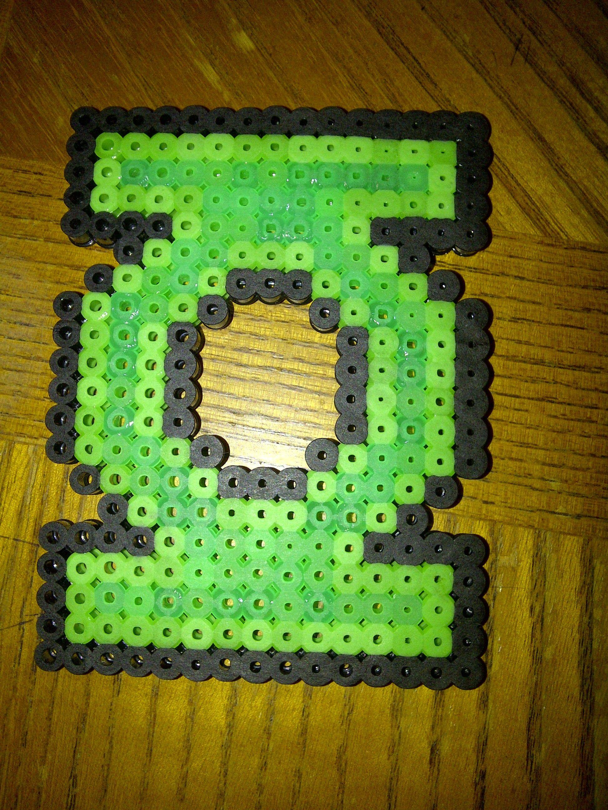 Green Lantern  perler beads by Tiffany Sheaffer