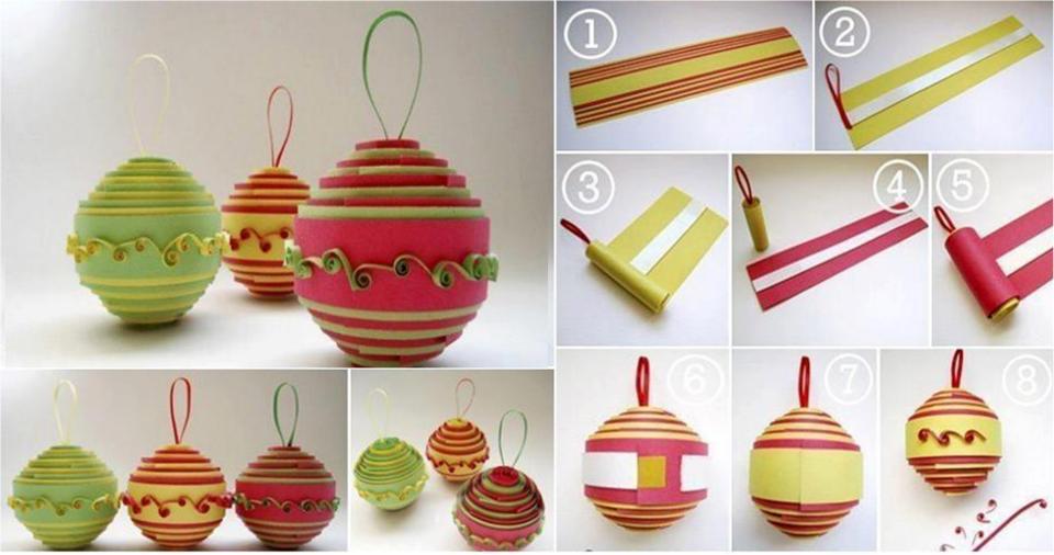 Manualidades de navidad paso a paso como hacer bolas - Manualidades con bolas de navidad ...