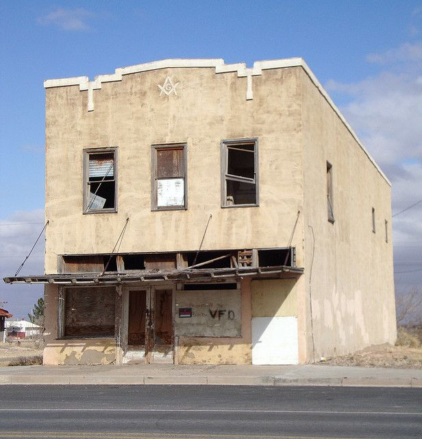 Abandoned Places Of Texas: Old Masonic Lodge (Barstow, Texas)