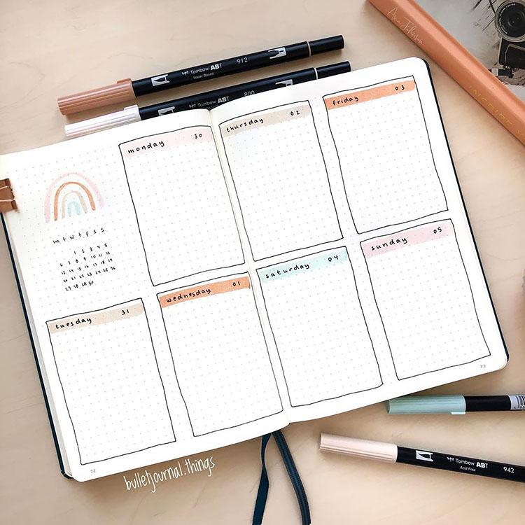 21 Bullet Journal Weekly Planner Ideas