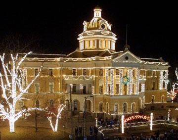 Harrison County Courthouse In Texas Christmas Lights Christmas Light Installation Harrison County