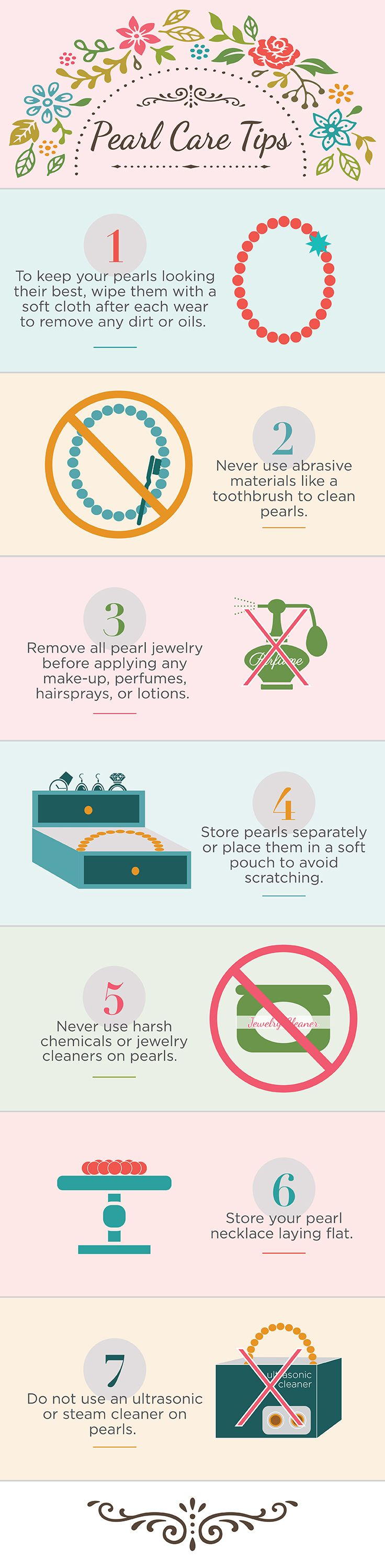 How to Care for Pearl Jewelry Caring for pearl jewelry