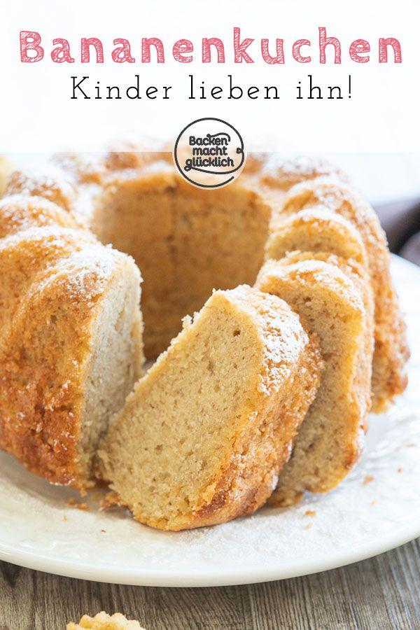 Einfacher Bananenkuchen Dieser einfache Bananenkuchen ist schnell gemacht und richtig köstlich Der saftige Bananenkuchen ist mit gutem Grund ein echter Klassiker Kin...