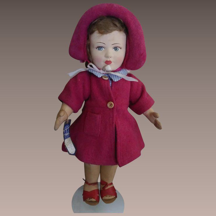 very sweet chad valley girl with provenance clothes make the doll rh pinterest com
