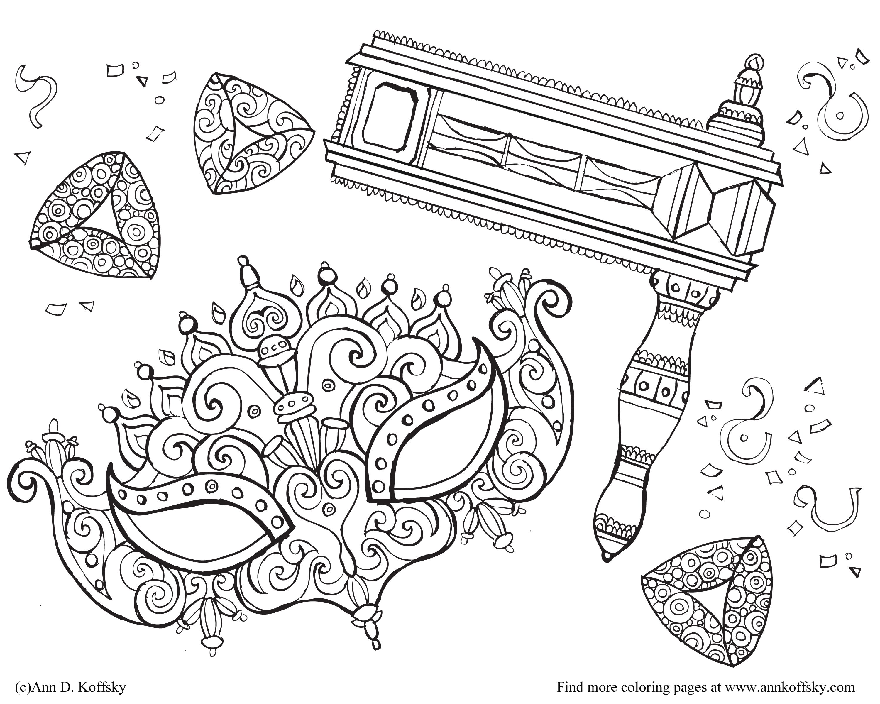Coloring Page For Purim Purim Jewishholiday Grogger Coloring