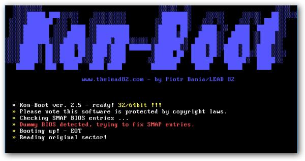 Resultado de imagen de Kon-Boot 2.7