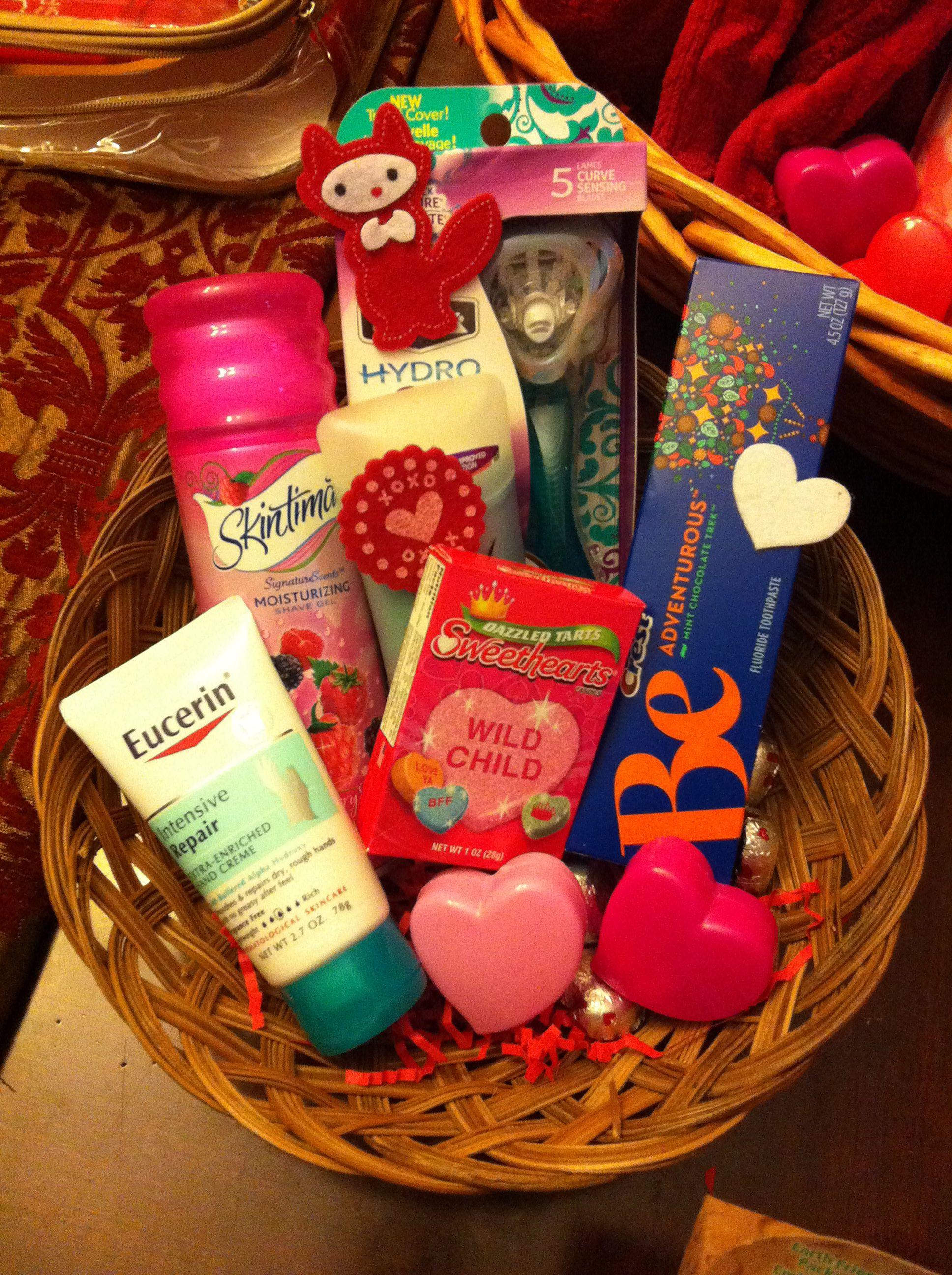Great idea for teachers gift basket for valentinesor