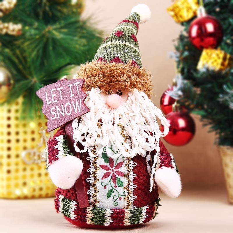1pc Hot Selling Cute Santa Claus Christmas Ornaments Sitting Santa Xmas Tree Decoration Christmas Ornaments Gifts Hanging Christmas Tree Xmas Tree Decorations