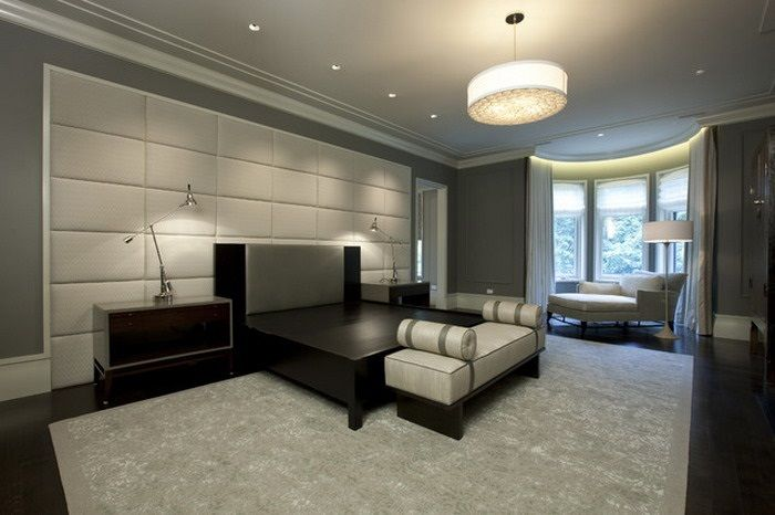 Luxurious Men Bedroom Ideas With Neutral Color With Handsome Decor Style:  Elegant Grey Decor In