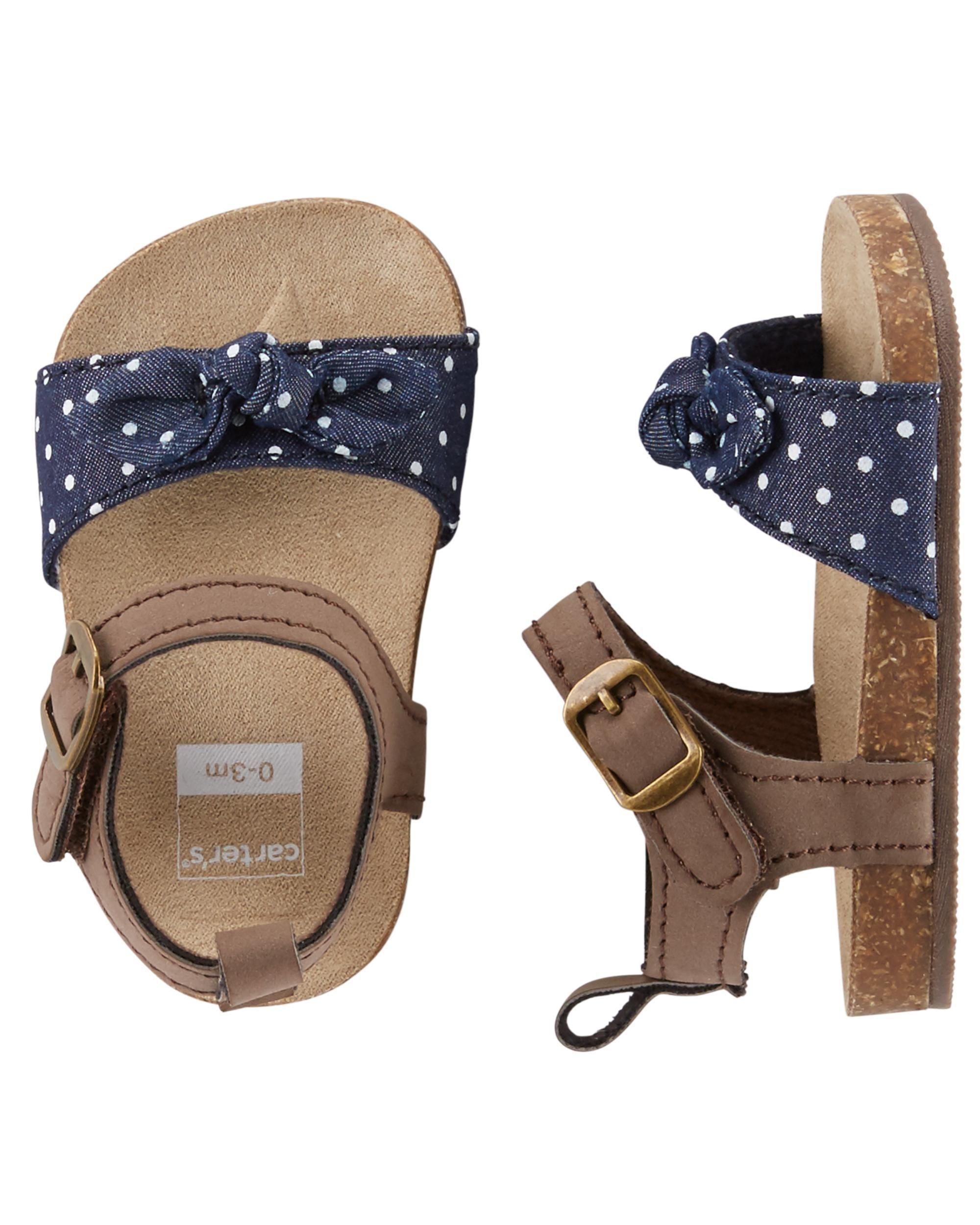 44fc4a5304e7 Baby Girl Carter s Sandal Crib Shoes