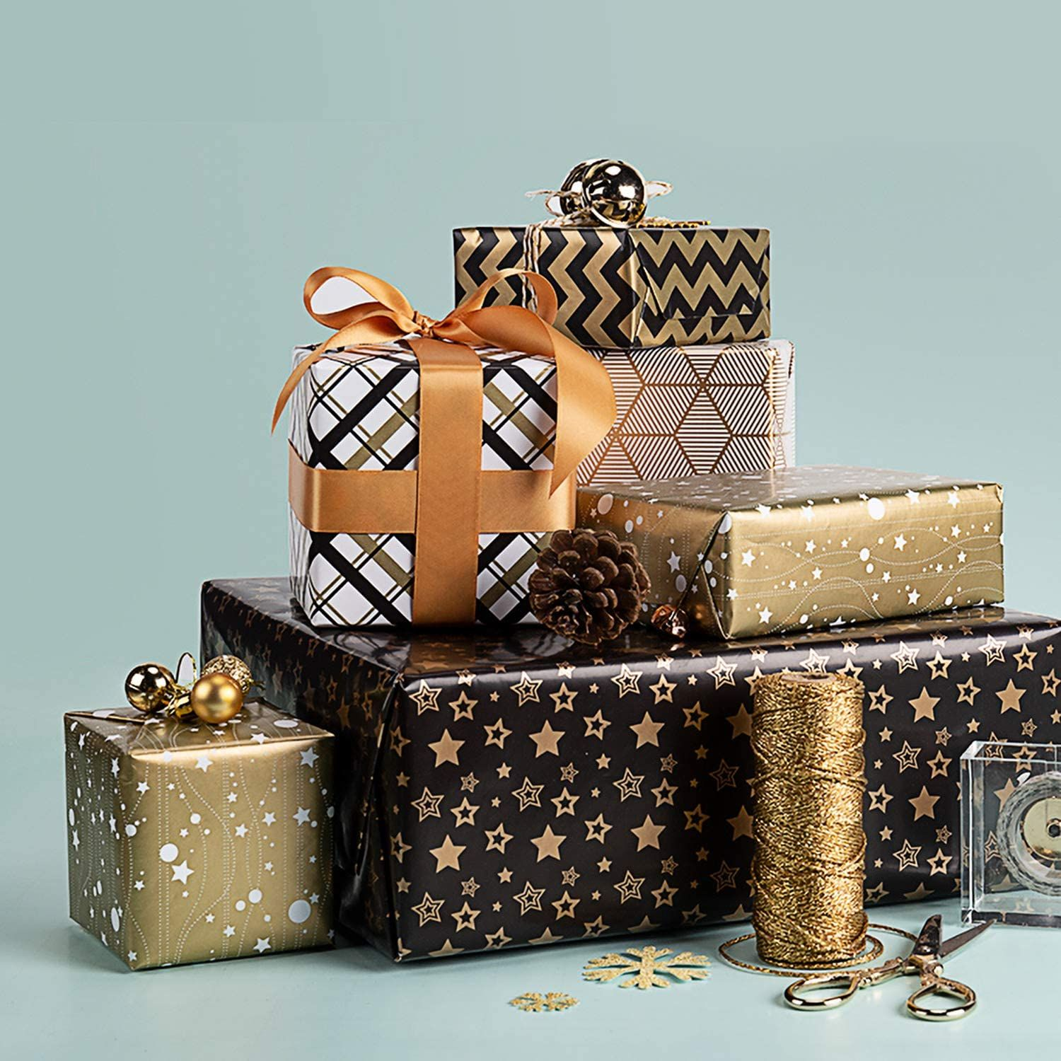 Best Gold Gift Wrap Foil in 2020 Gift wrapping, Gift